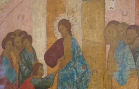 Îndoiala lui Toma. Școala lui Dionisie, sec. XVI, Galeriile Tretiakov