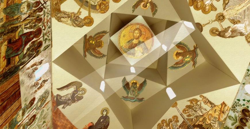 Simulare interior macheta Biserica