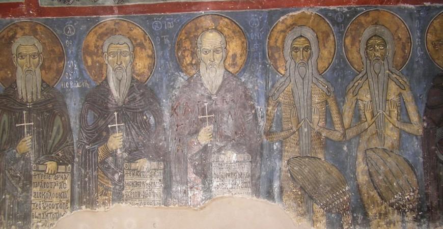 Sfinți cuvioși - peștera Sf. Neofit