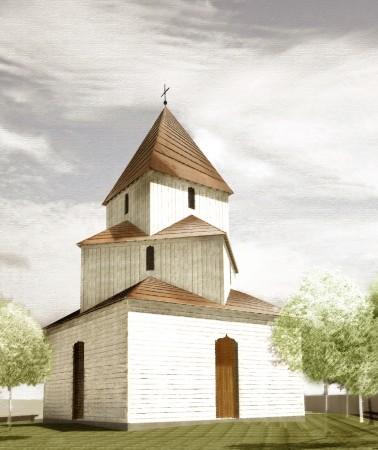 Macheta finală a viitoarei biserici