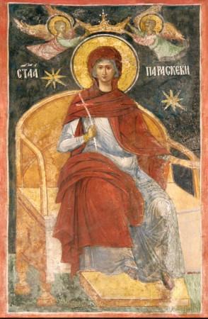Sfânta Paraschiva încununată, catedrala episcopală din Roman