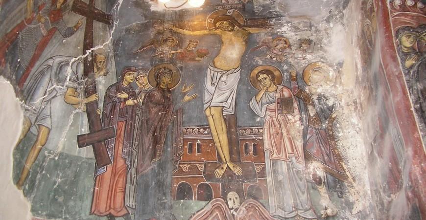 Răstignirea - peștera Sfântului Neofit