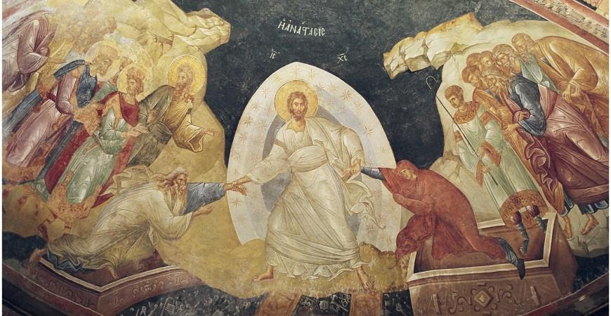 Învierea lui Hristos, Mănăstirea Chora (Constantinopol), sec. XIV