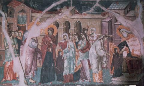 Intrarea în Biserică a Maicii Domnului, Protaton, Kareia, Muntele Athos