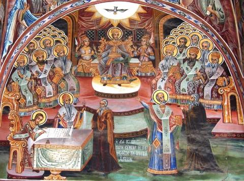 Sinodul I Ecumenic (Pridvorul catholiconului Marii Lavre, Athos)
