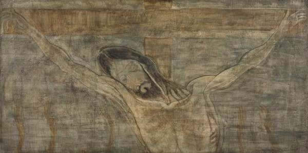 Hristos Răstignit - pictură de Merab Abramishvili