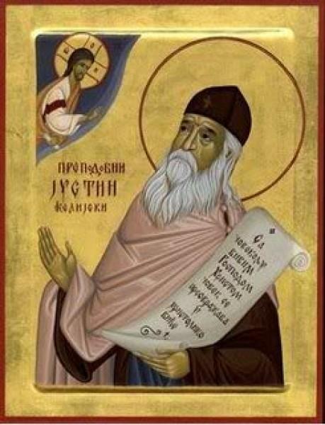 icoana Sfântului Iustin, noul teolog