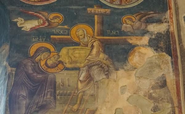 Pogorârea de pe Cruce, Mănăstirea Safara, Georgia (Biserica Sf. Sava), frescă de sec. XIV