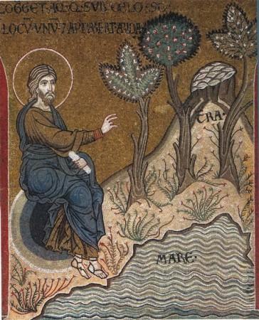 Separarea apei de pământ și apariția plantelor (Facere 1, 9-13)