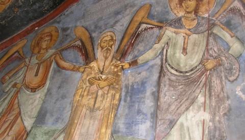 Sfântul Neofit îndrumat de îngeri