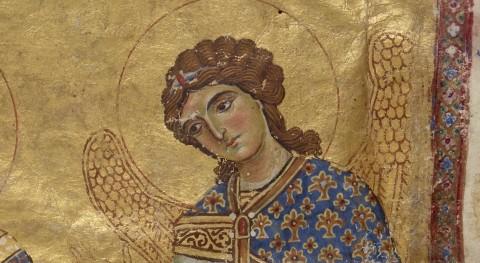 Sf. Arhanghel Mihail in mss. Coislin. gr. 79, f. 10 (fragm.)